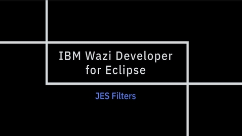 Thumbnail for entry IBM Wazi Developer for Eclipse; JES Filters