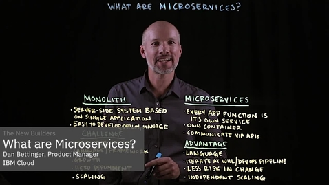 Thumbnail for entry What are Microservices