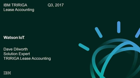Thumbnail for entry Automating Compliance to Lease Accounting Changes with IBM IoT