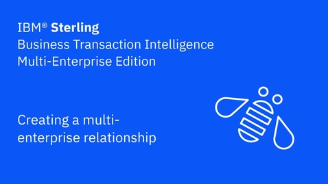 Thumbnail for entry Creating a multi-enterprise relationship - IBM Sterling Business Transaction Intelligence Multi-Enterprise Edition