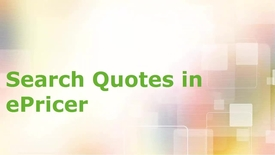 Search for an ePricer Quote for Business Partners