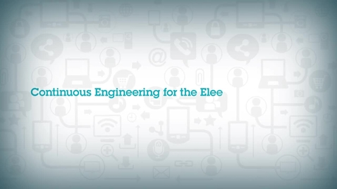 Thumbnail for entry Continuous Engineering for the Electronics Industry