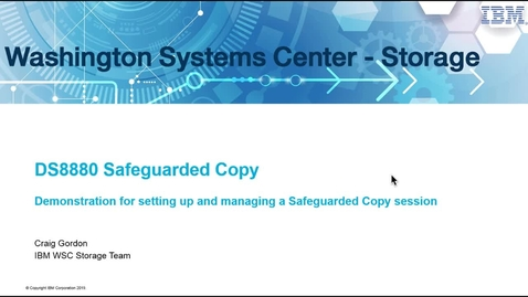 Thumbnail for entry Safeguarded Copy Demo