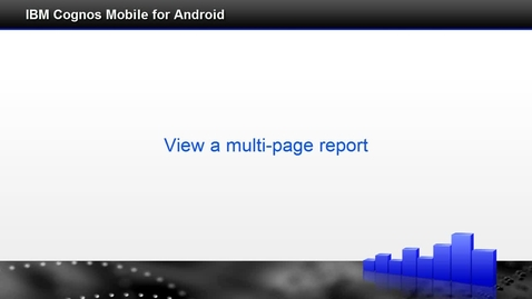 View a multipage report