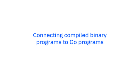 Thumbnail for entry Go on z/OS: Connecting Compiled Binary Programs to Go Programs