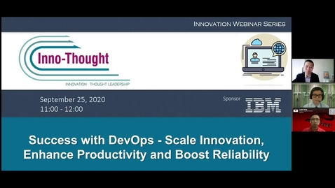 Thumbnail for entry Webinar: Success with DevOps - Scale innovation, enhance productivity and boost reliability