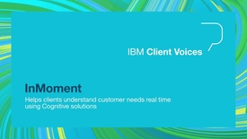 Thumbnail for entry InMoment helps clients understand customer needs in real time
