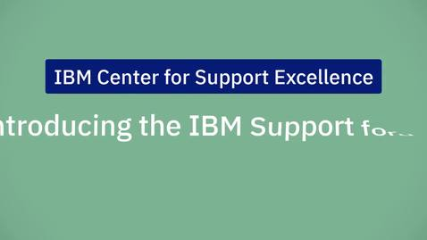 Thumbnail for entry Introducing the IBM Support Community: Forums