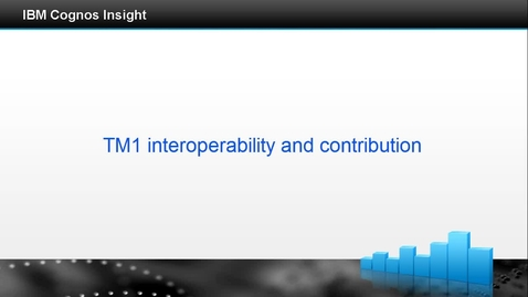 Thumbnail for entry TM1 interoperability and contribution