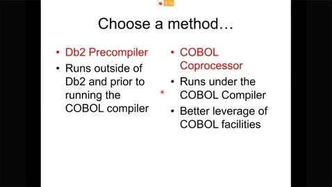 Thumbnail for entry COBOL Fridays Db2 交互