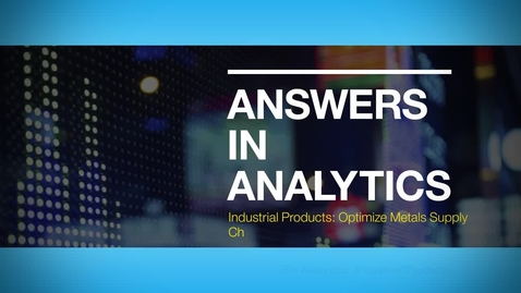 Thumbnail for entry Answers in Analytics: Ryerson improves operational performance