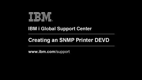 Thumbnail for entry Creating an SNMP Printer Device Description