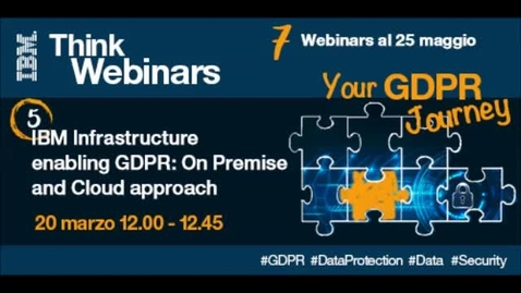 Thumbnail for entry IBM Infrastructure enabling GDPR: On premise and Cloud approach