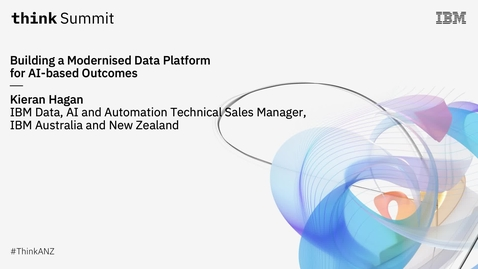 Thumbnail for entry Building a Modernised Data Platform for AI-based Outcomes