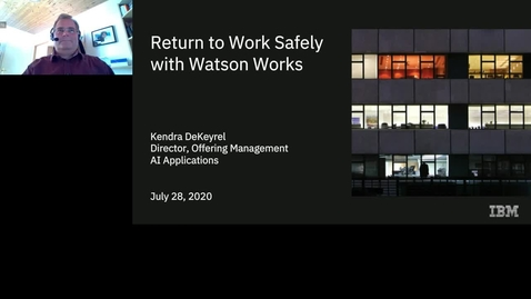 Thumbnail for entry Return to work safely with Watson