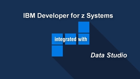 Thumbnail for entry Execute and Edit SQL with IBM Developer for z Systems and Data Studio