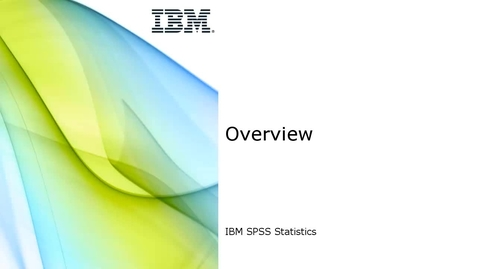 Thumbnail for entry Statistics Overview