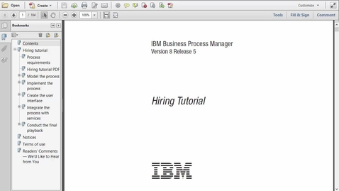 Thumbnail for entry BPM on Cloud 1 - Getting Started with IBM BPM on Cloud