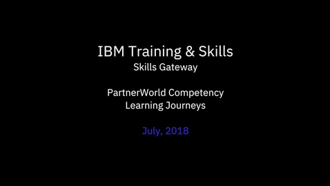 Thumbnail for entry PartnerWorld Competency Learning Journeys