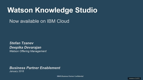 Watson Knowledge Studio - Now available on Cloud