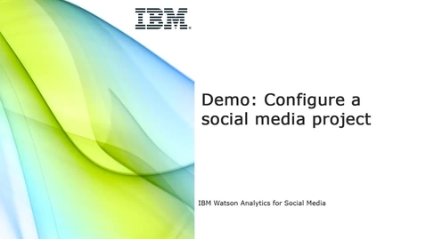 Thumbnail for entry Demo - Configure a social media project