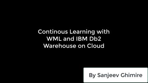Thumbnail for entry 通过WatsonMachineLearning和IBMDb2WarehouseonCloud不断对数据进行学习