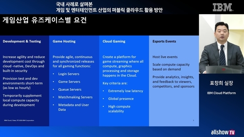 Thumbnail for entry 게임사를 위한 IBM Cloud