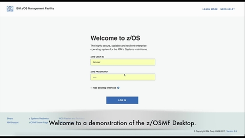Thumbnail for entry The optional enhanced look and feel of z/OSMF