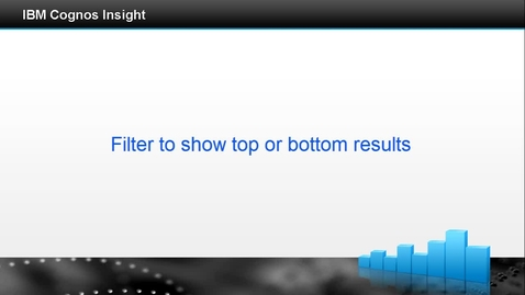 Thumbnail for entry Filter to show top or bottom results