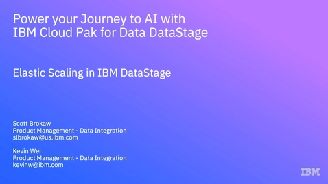 Thumbnail for entry Auto Scaling with IBM DataStage - IBM Cloud Pak for Data 3.0