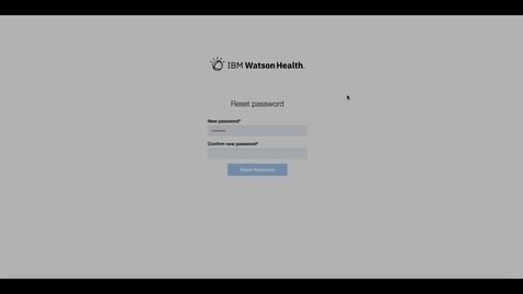 Thumbnail for entry Signing in to IBM Watson Care Manager where your organization enabled multi-factor authentication and managing your Watson Care Manager account