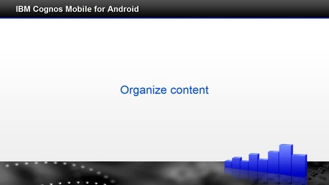 Thumbnail for entry Organize content