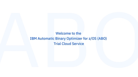 Thumbnail for entry IBM Automatic Binary Optimizer for z/OS (ABO)