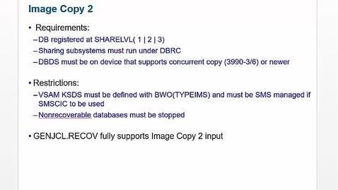 Thumbnail for entry Unit 8: IMS Utilities, part 2