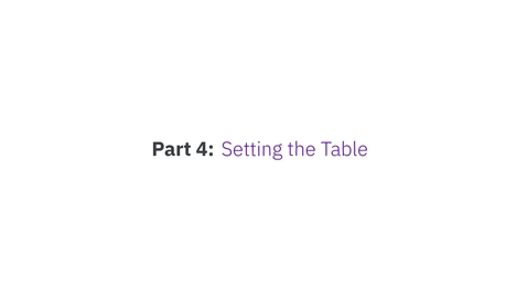 Thumbnail for entry Blockchain 101 by IBM Food Trust - Part 4: Setting the table