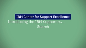 Thumbnail for entry Introducing the IBM Support Community: Search