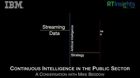 Thumbnail for entry Continuous Intelligence in the Public Sector