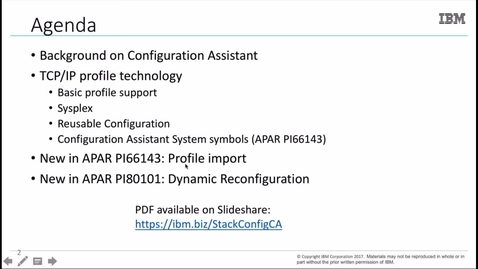 Thumbnail for entry TCP/IP Stack Configuration with Config Assistant for z/OS CS