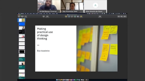 Thumbnail for entry IBM Skills Presents- Making Practical Use of Design Thinking Replay