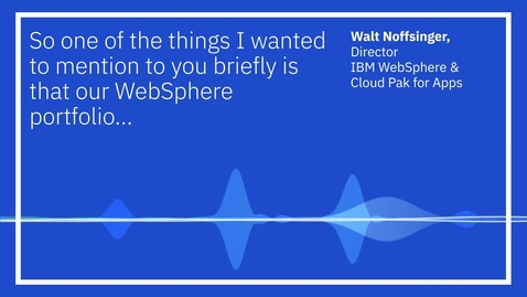 Thumbnail for entry IBM WebSphere: 2030 support extension