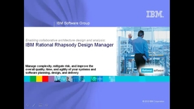 Thumbnail for entry Collaborative Design Management with Rational Rhapsody Design Manager