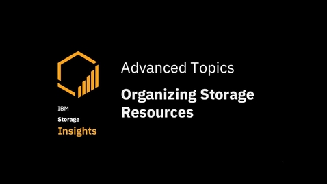 Thumbnail for entry Organizing storage resources in Departments