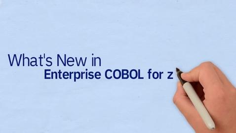 Thumbnail for entry What's new in IBM Enterprise COBOL for z/OS, V6.3