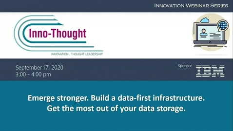 Thumbnail for entry HK Webinar: Emerge stronger. Build a data-first infrastructure. Get the most out of your data storage