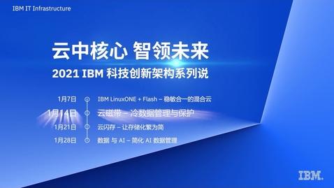 Thumbnail for entry 2021 IBM 科技创新架构系列说:云磁带 — 冷数据管理与保护
