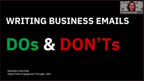 Thumbnail for entry Dos and Don'ts when writing a business e-mail