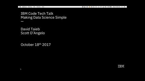 Thumbnail for entry 简化数据科学