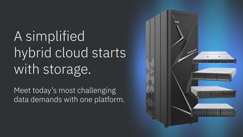 Thumbnail for entry Una nube híbrida simplificada comienza con almacenamiento