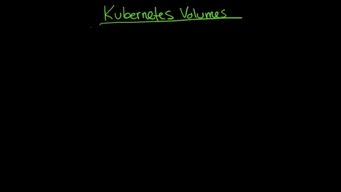 Thumbnail for entry Kubernetes Volumes 1 emptydir NFS YAML volumes and intro to Persistent Volume Claims