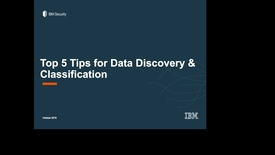 Thumbnail for entry Top 5 Tips Discovery and Classification
